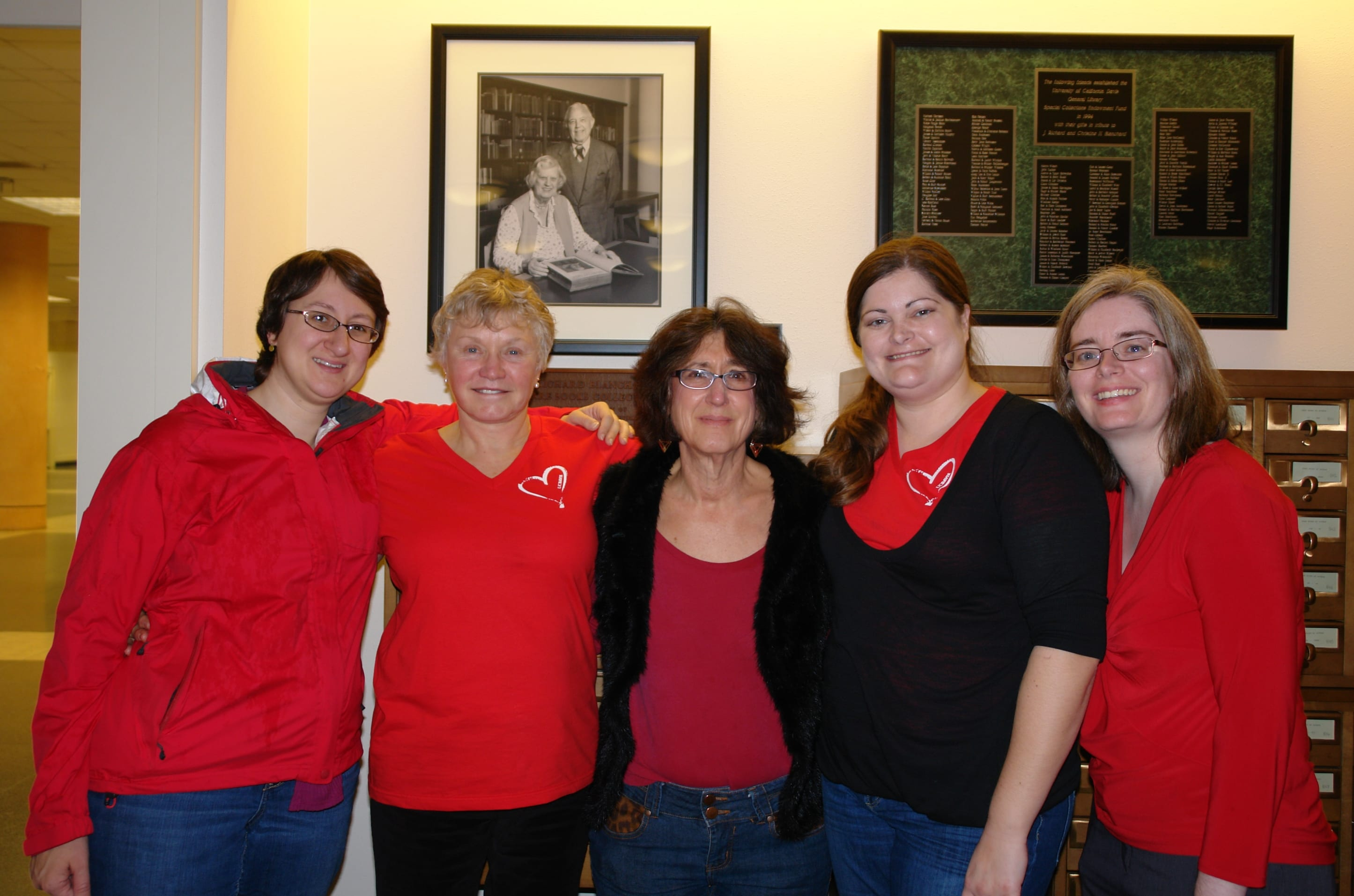Special Collections Wears Red, 2014