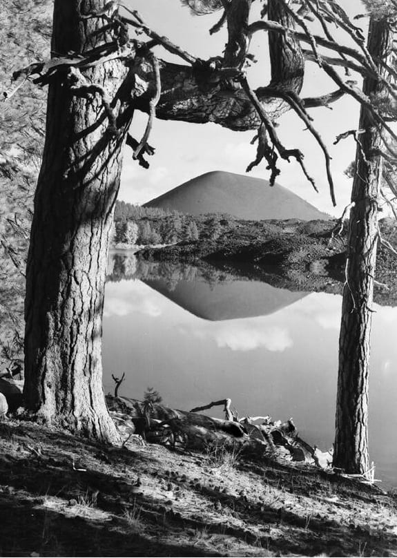 Cinder Cone and Butte Lake, Calif, 1938.