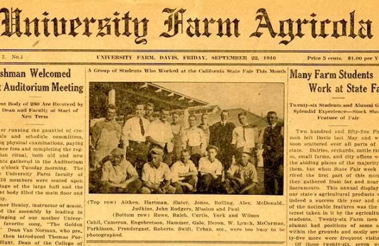 Throwback to the University Farm Agricola on September 22, 1916
