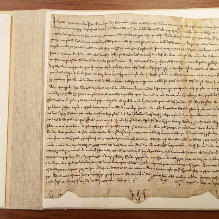 50 Features of Special Collections: Will of Ximenes Petri, Tudela, Spain, 1287 September 13.