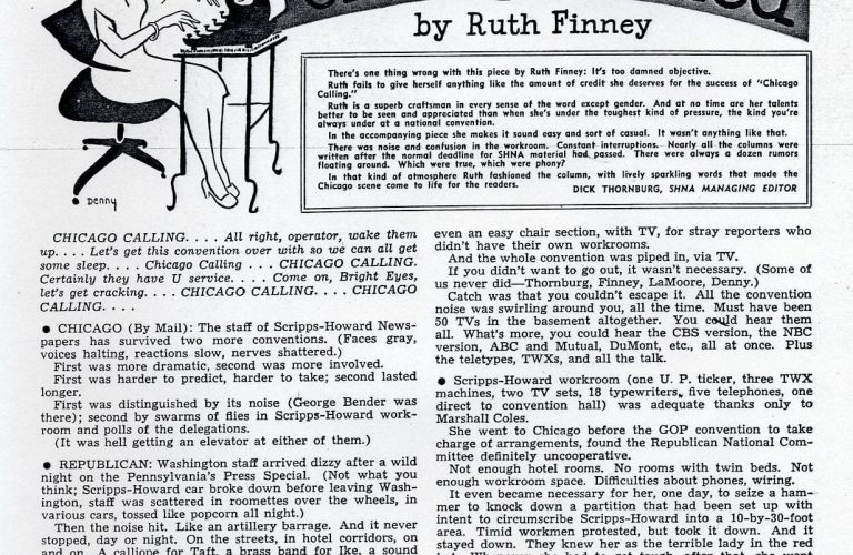 50 Features of Special Collections: Ruth Finney Papers