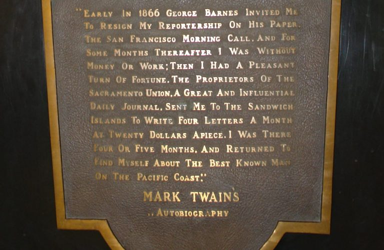 50 Features of Special Collections: Mark Twain Bronze Sculpture
