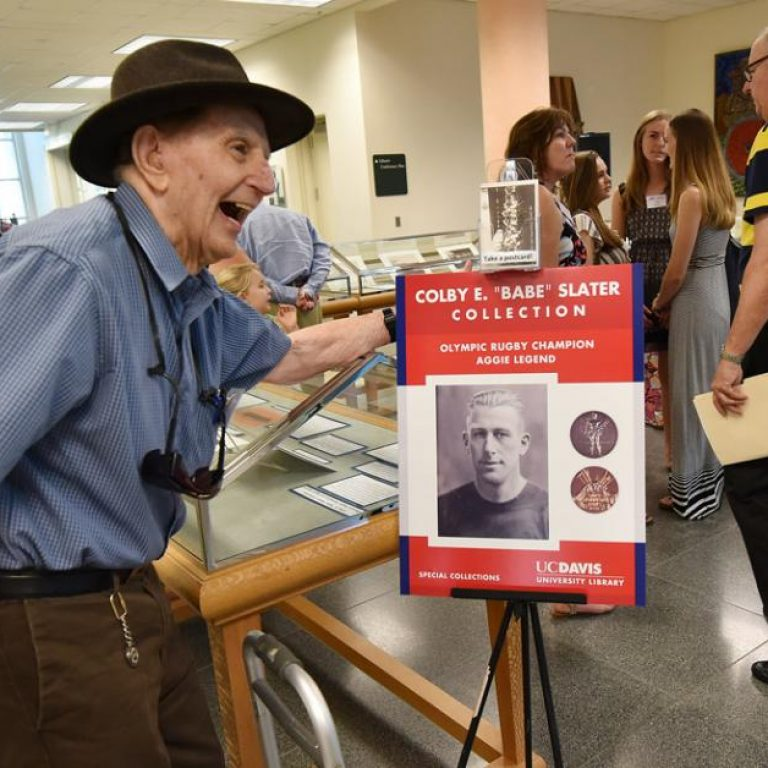 Library Celebrates Olympics Rugby Great 'Babe' Slater