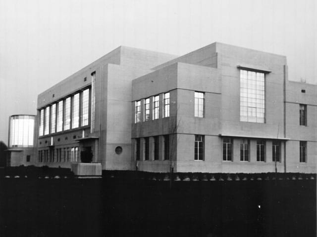 North wing of the Library, circa 1940 .