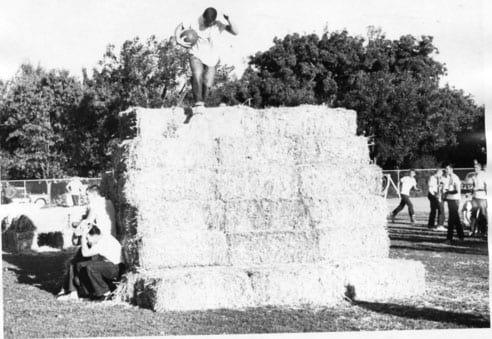 Frosh-Soph Brawl, obstacle course, 1958.