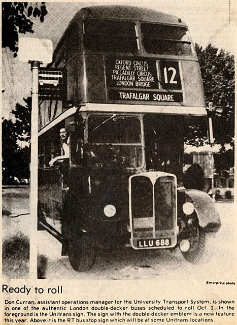 Article in the Davis Enterprise announcing new bus signs, September 25, 1975.