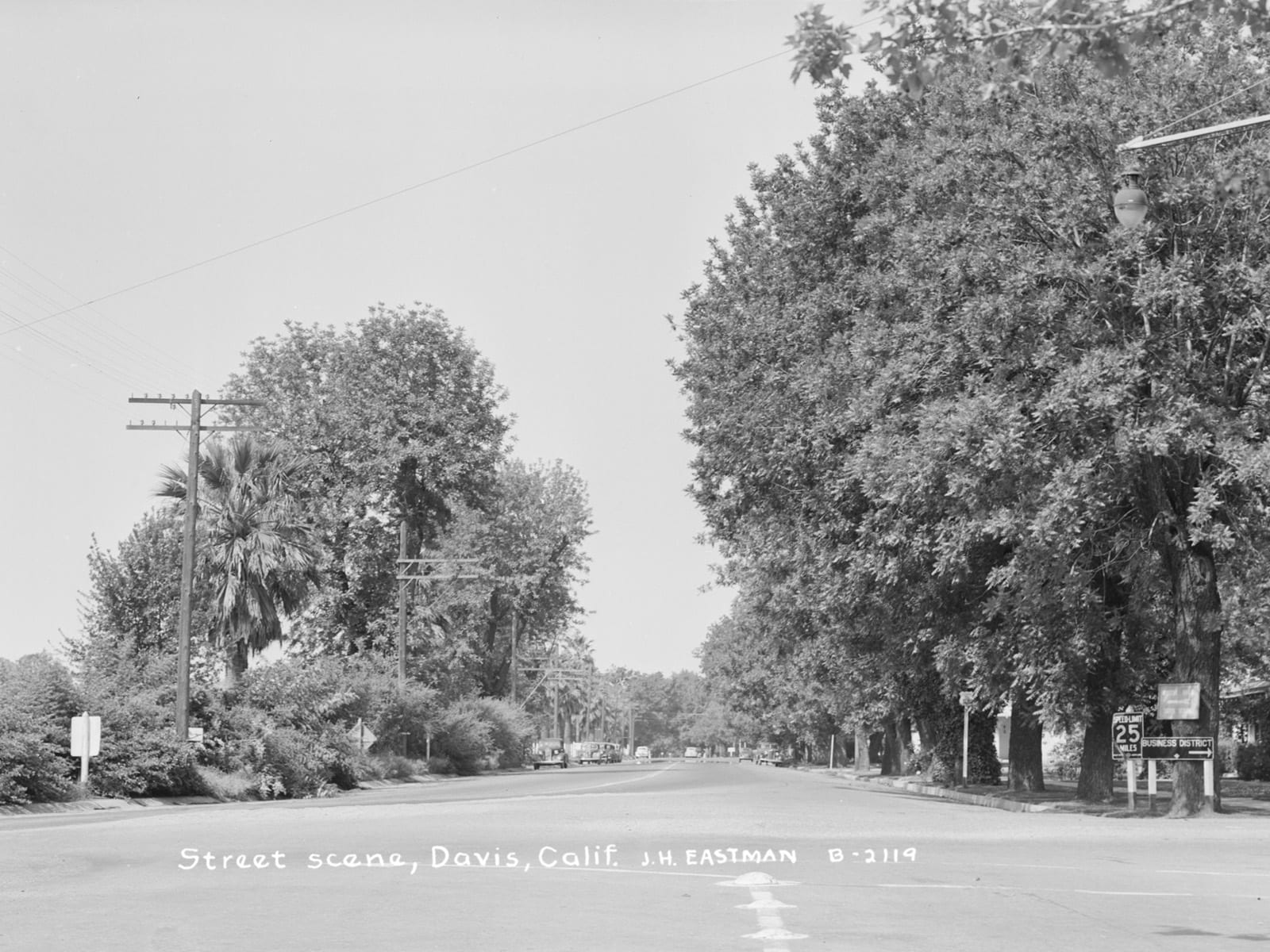 First Street, looking west, 1944