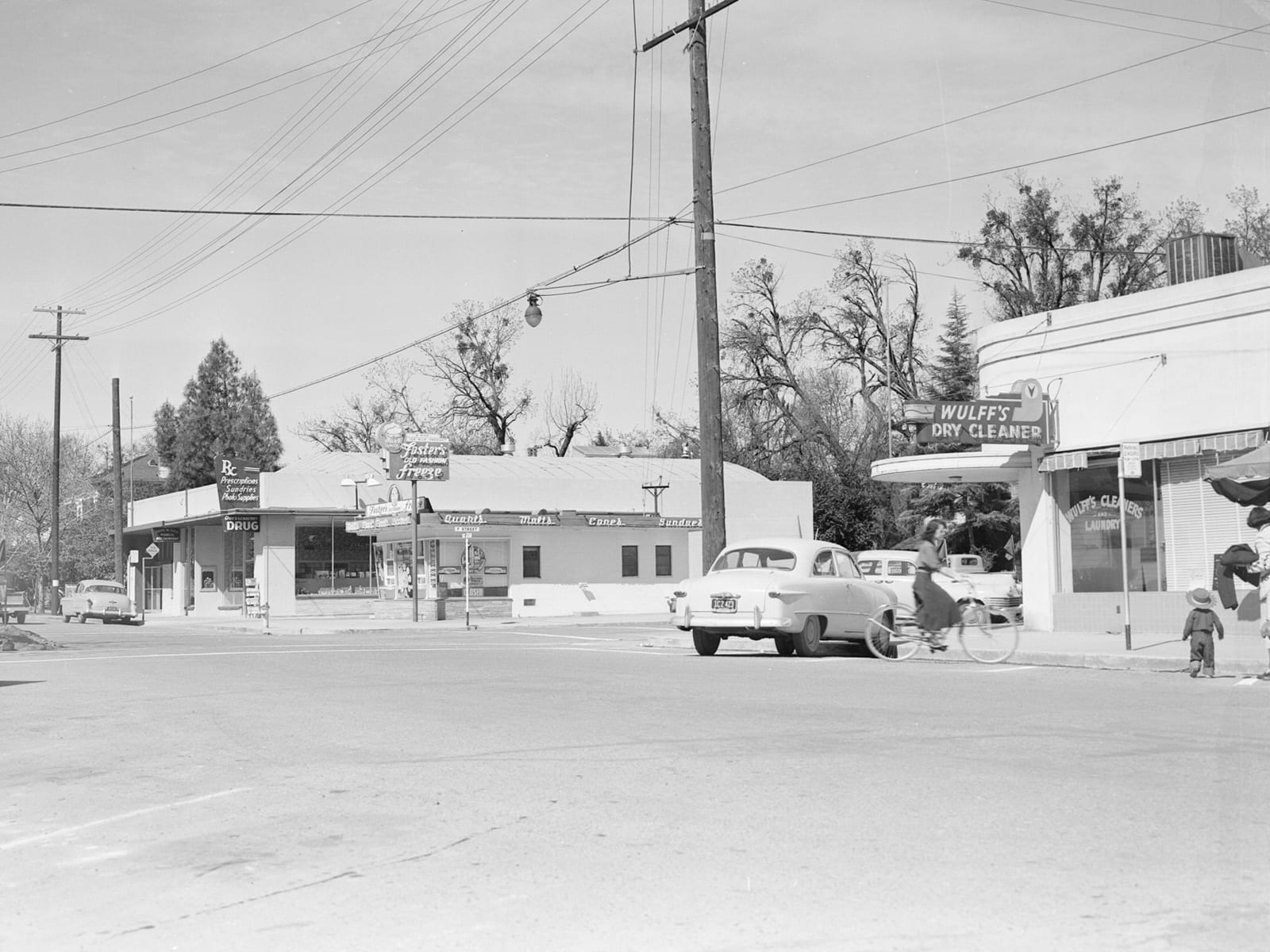 Second Street at F Street, looking northwest, 1951