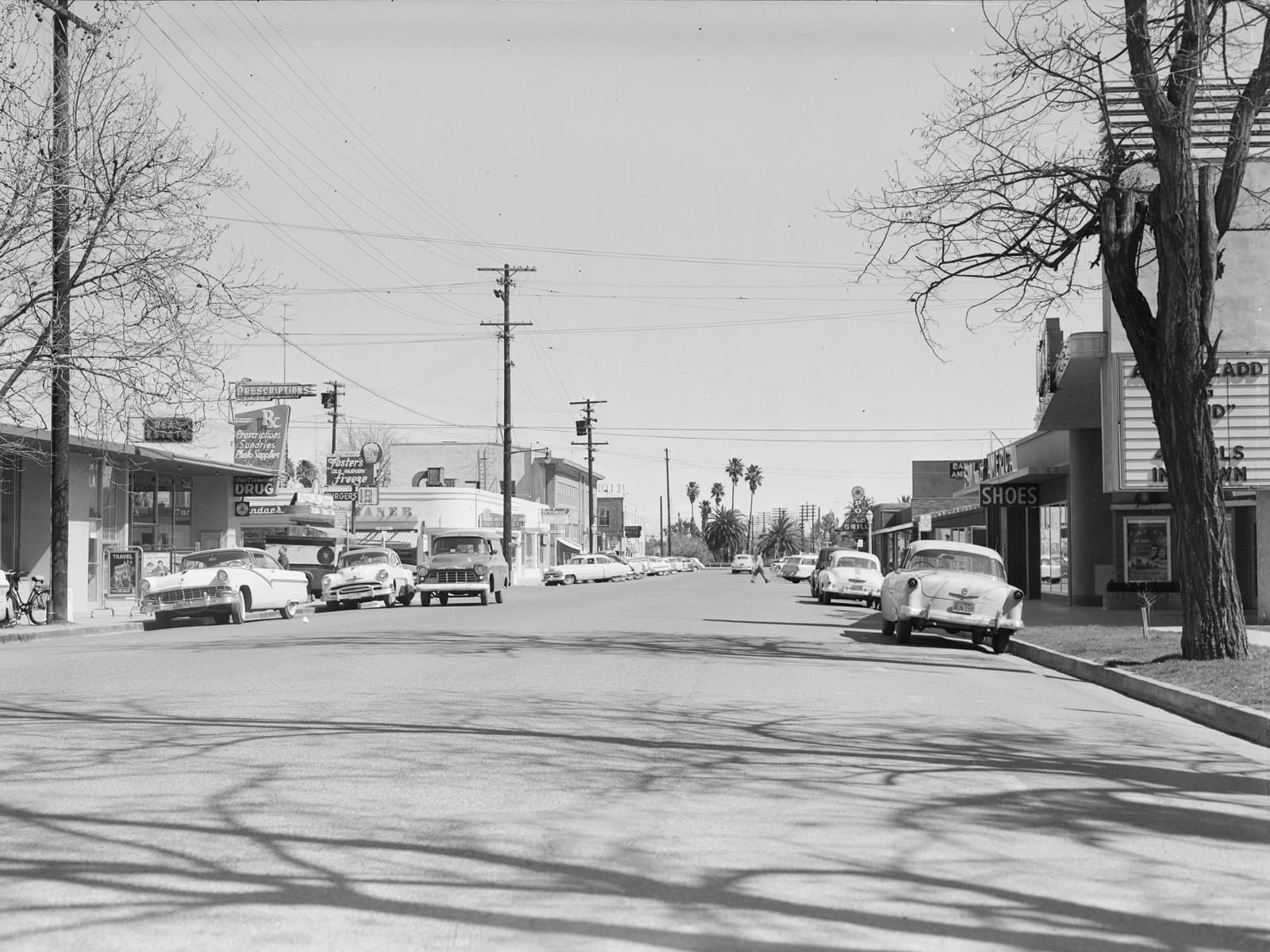 Second Street between E and F Streets, looking east, 1957