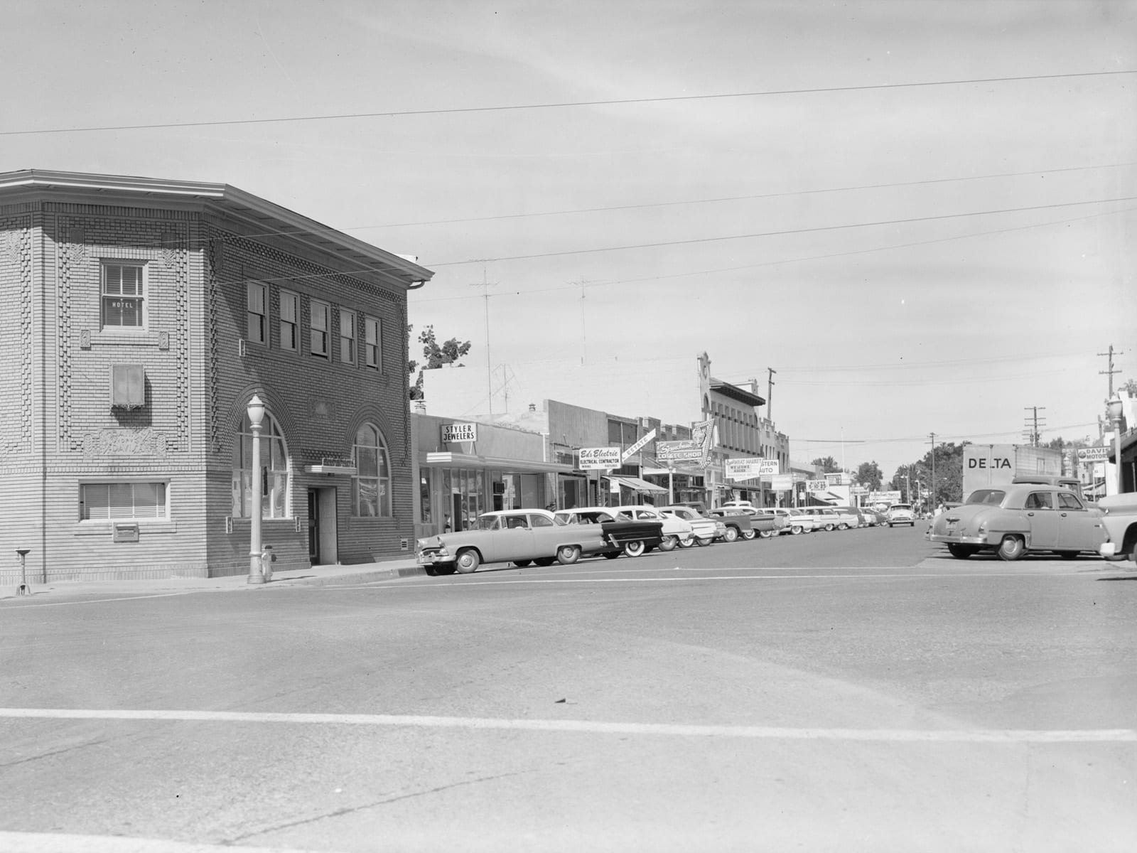 G Street at Second Street, looking north, 1960