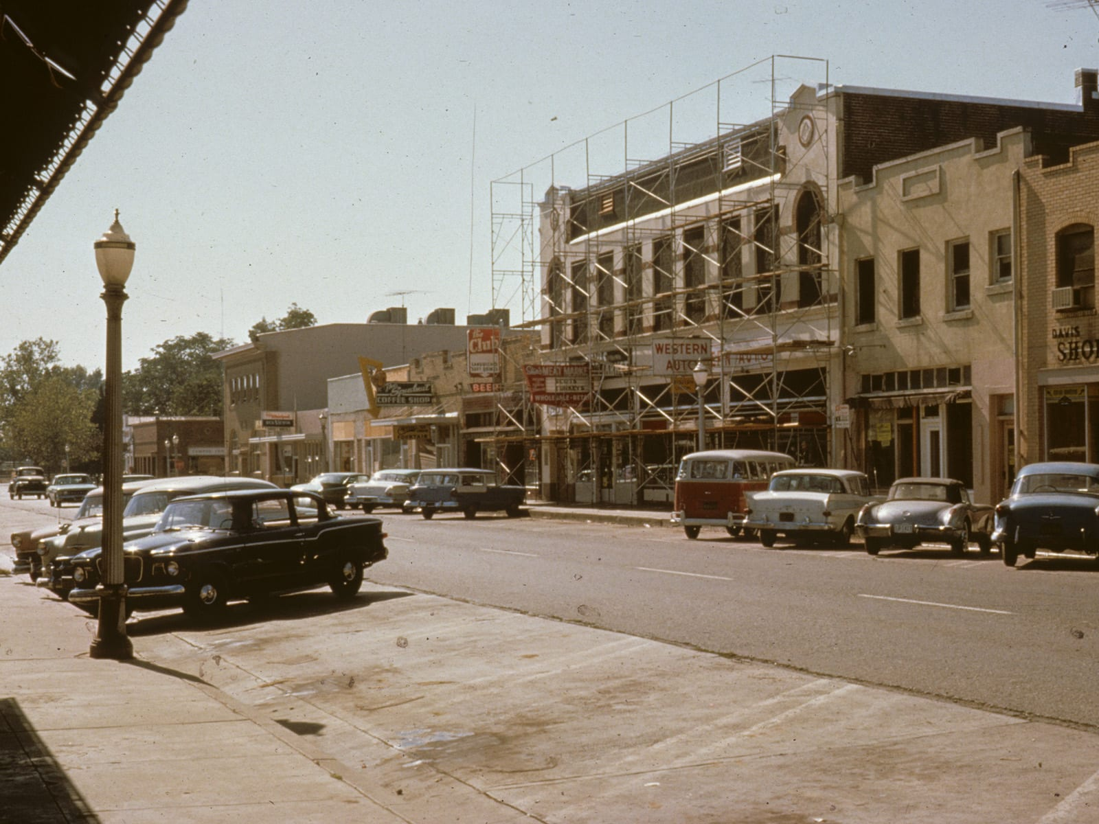 The corner of G and Third Streets, looking southwest, 1963