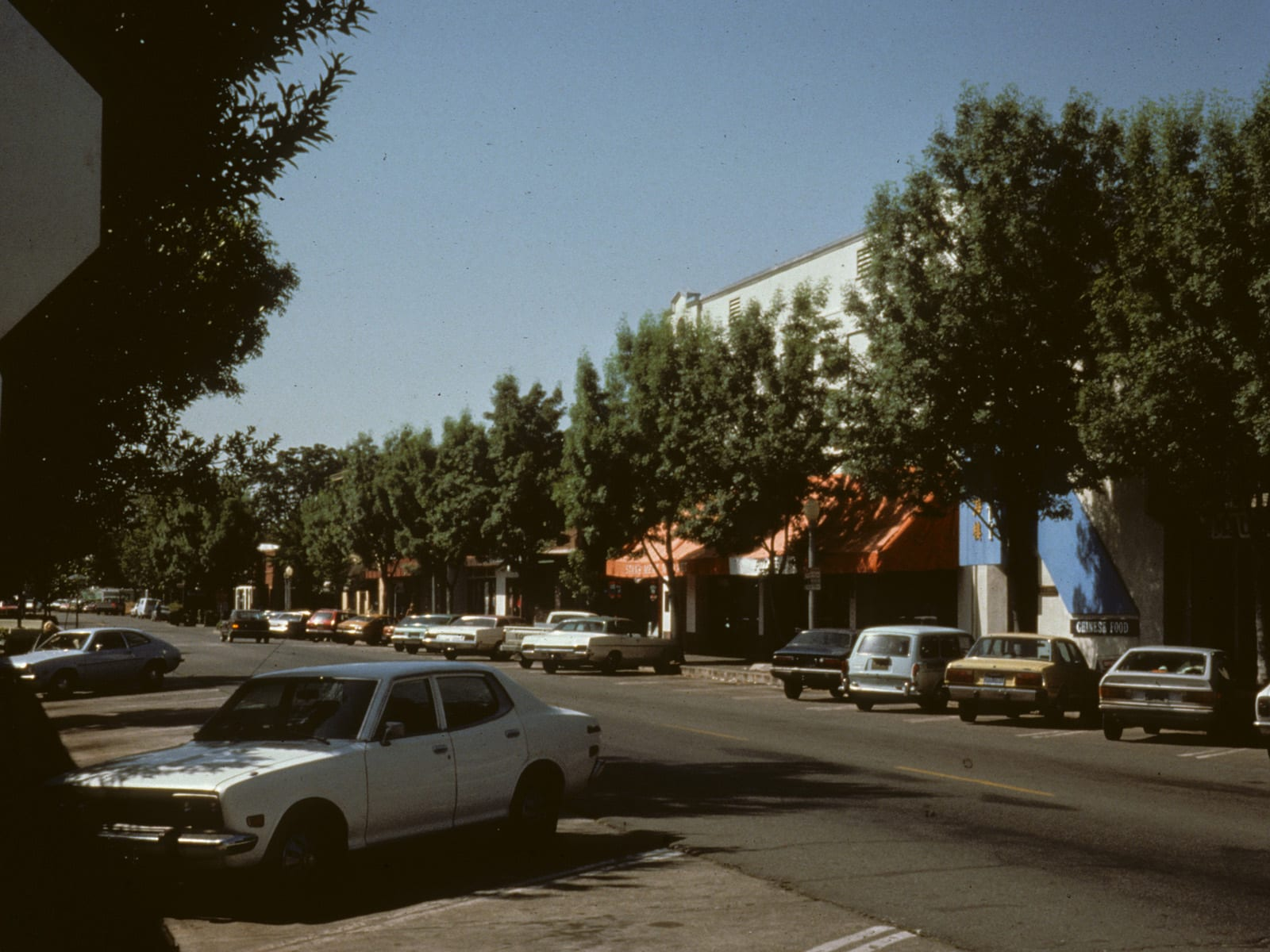The corner of G and Third Streets, looking southwest, circa 1970s