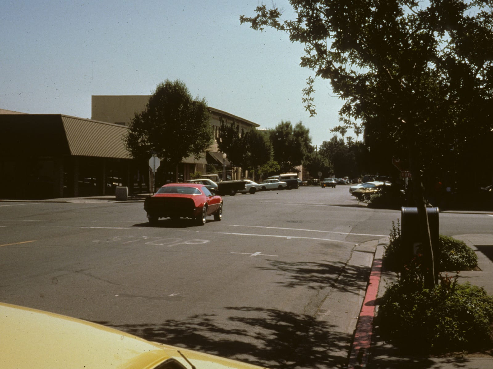 A view of Second Street looking east, circa 1970s