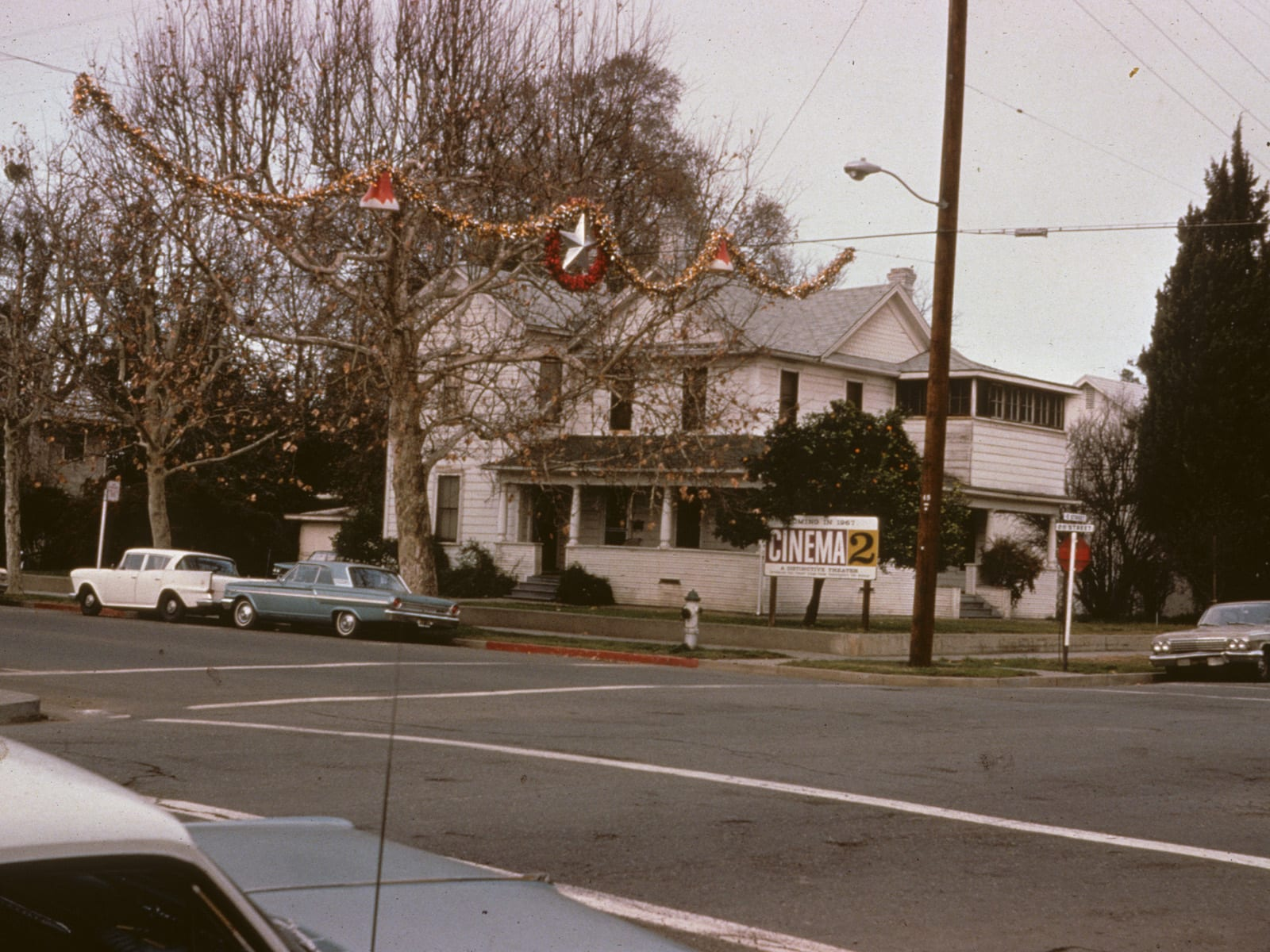 The corner of E and Second Streets, 1963