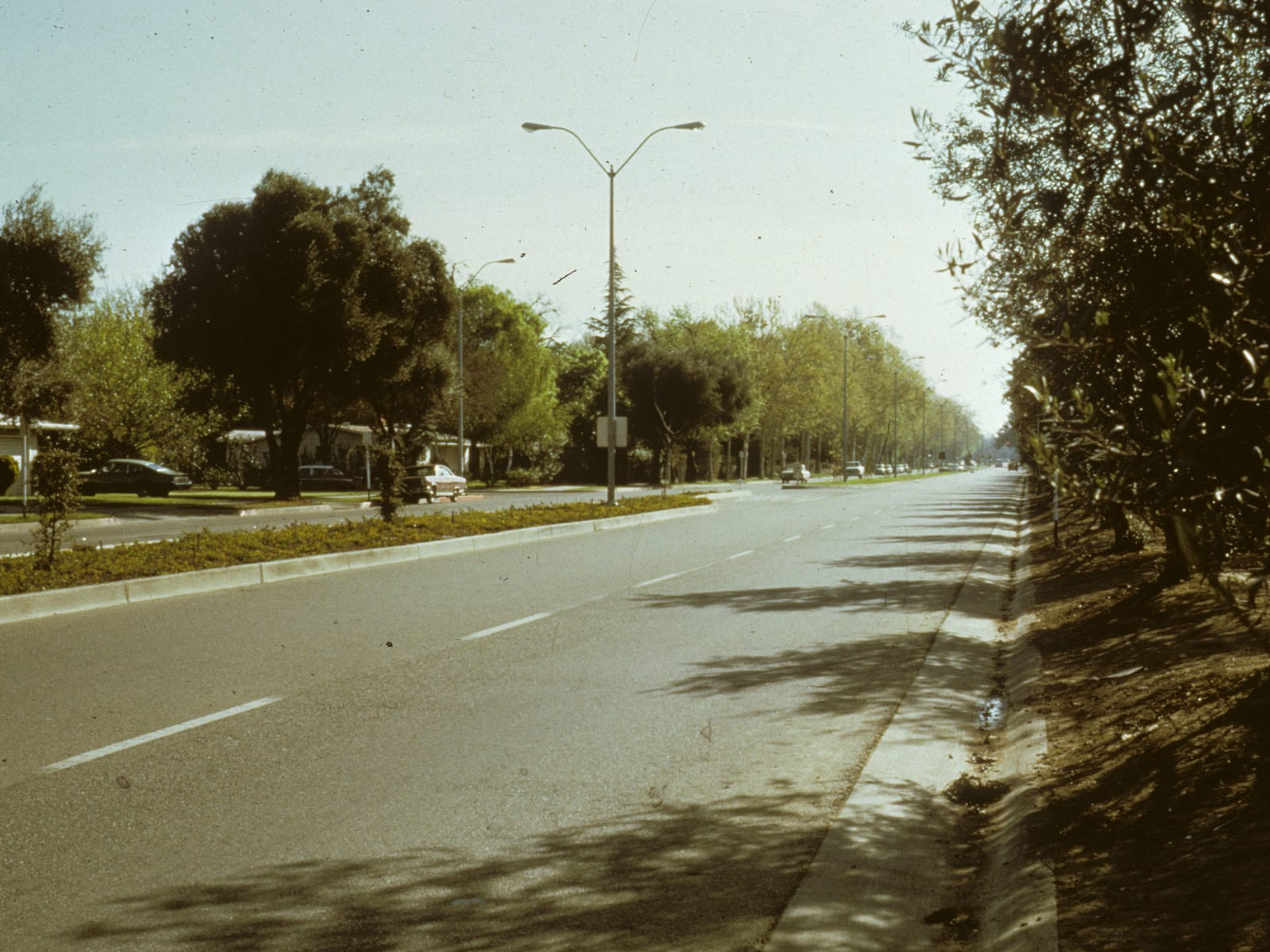 Russell Boulevard, looking east, circa 1970s