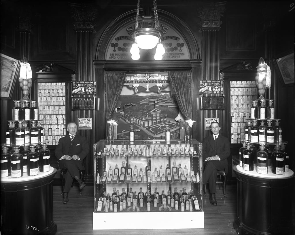 C.F. Sauer Company's exhibit in the Food Building at the PPIE, 1915.