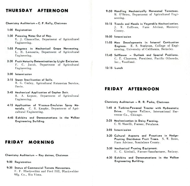Examples of conferences sponsored by the department in the 1950s-1960s.