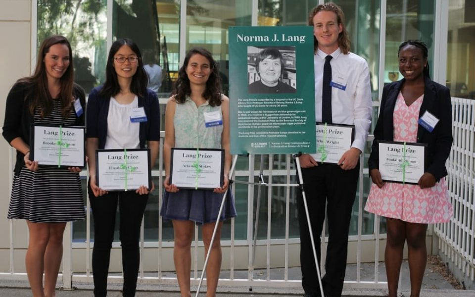 Winners of the 2017 Norma J. Lang Prize for Undergraduate Information Research