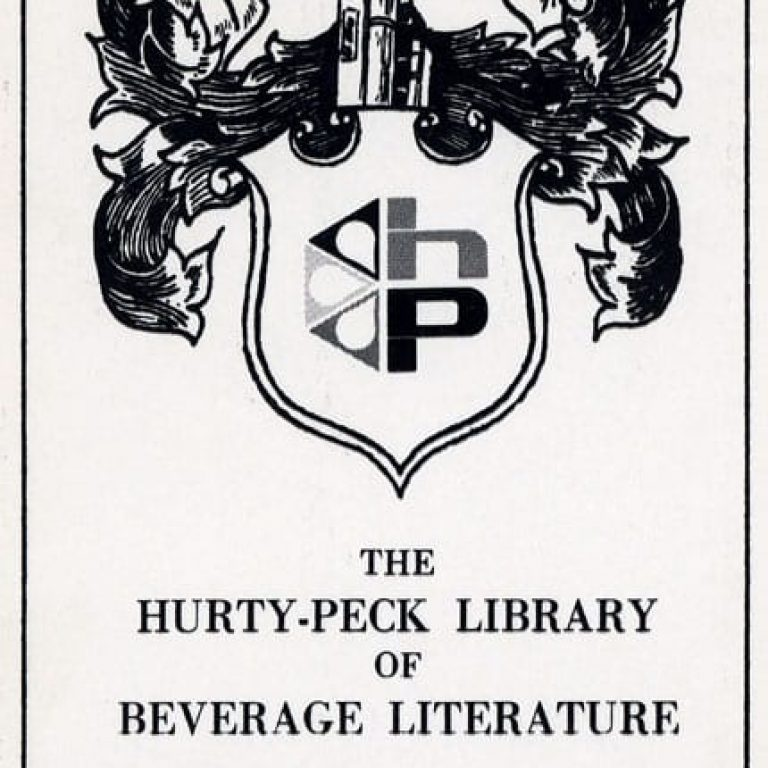 50 Features of Special Collections: The Noling (A.W.) Hurty-Peck Library of Beverage Literature