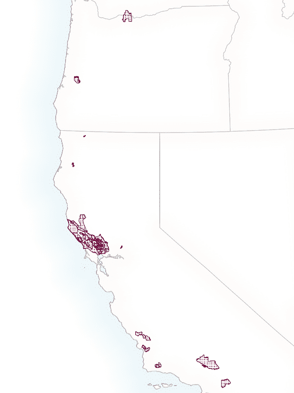 Map of completed American Viticulture Areas boundaries
