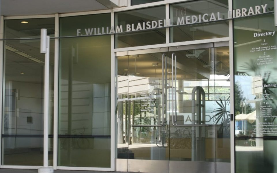Blaisdell Medical Library is open 24/7 to members of UC Davis Health