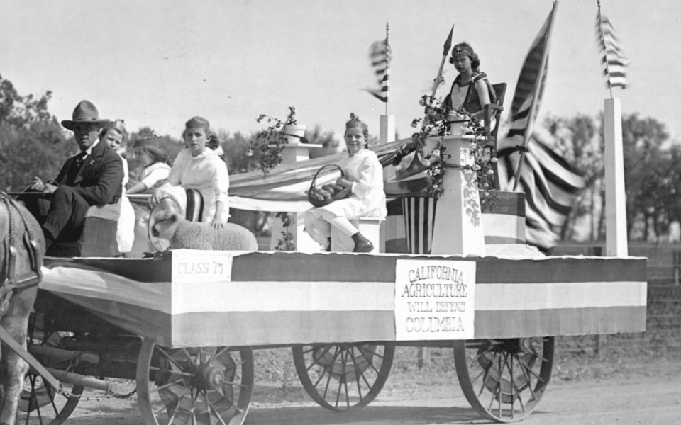 Detail of senior float, 1917