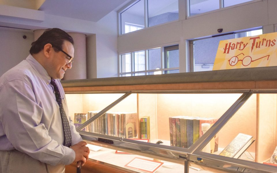 Exhibit curator and UC Davis subject specialist librarian Roberto Delgadillo (Pattie Chen/UC Davis Library).