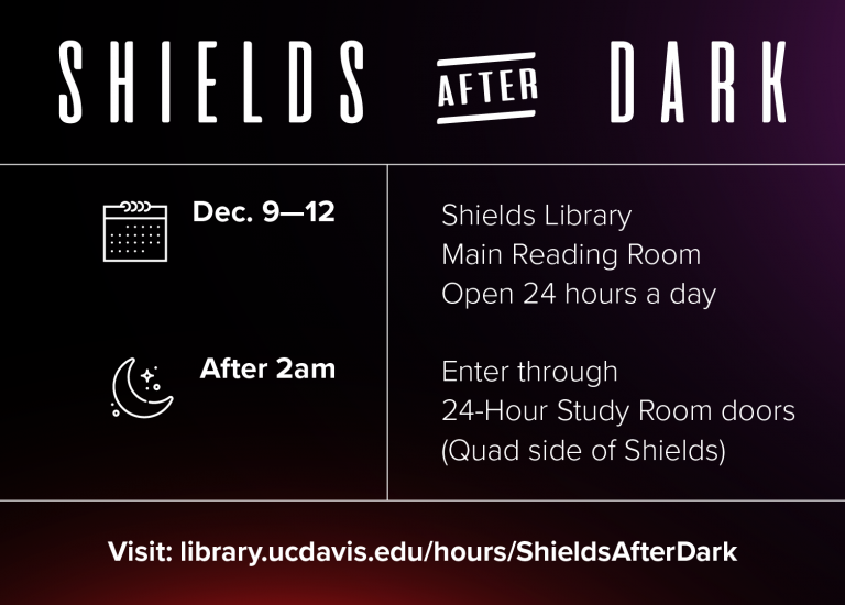 Snack and Study at Shields during Finals Thumbnail