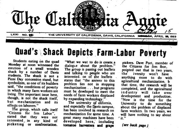 Shack Depicts Farm-Labor Poverty