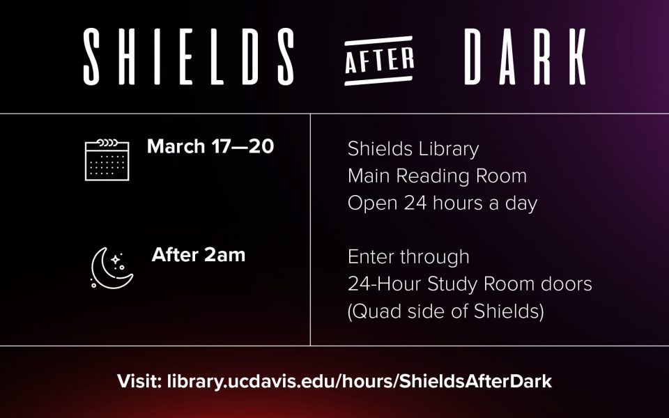 Finals Week at Shields: Enjoy extended hours + coffee!