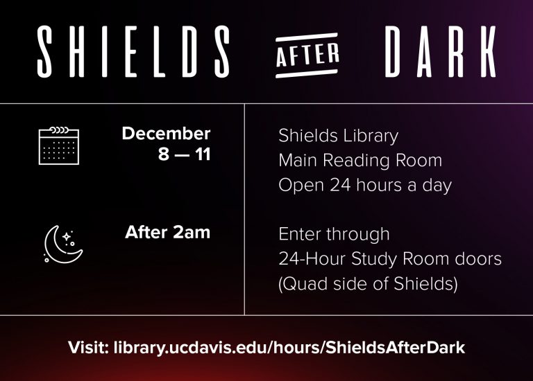 Finals Week at Shields: Extended hours + coffee! Thumbnail
