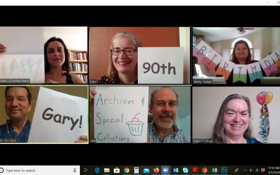 Archives and Special Collections staff send birthday greetings to Gary Snyder