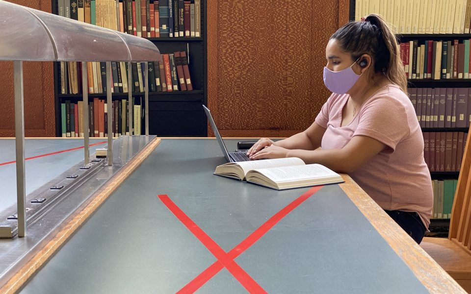 You'll see some changes at Shields Library this fall. Among other things, face coverings and physical distancing will be required. (Photo courtesy of Kristin Burns/UC Davis Library)