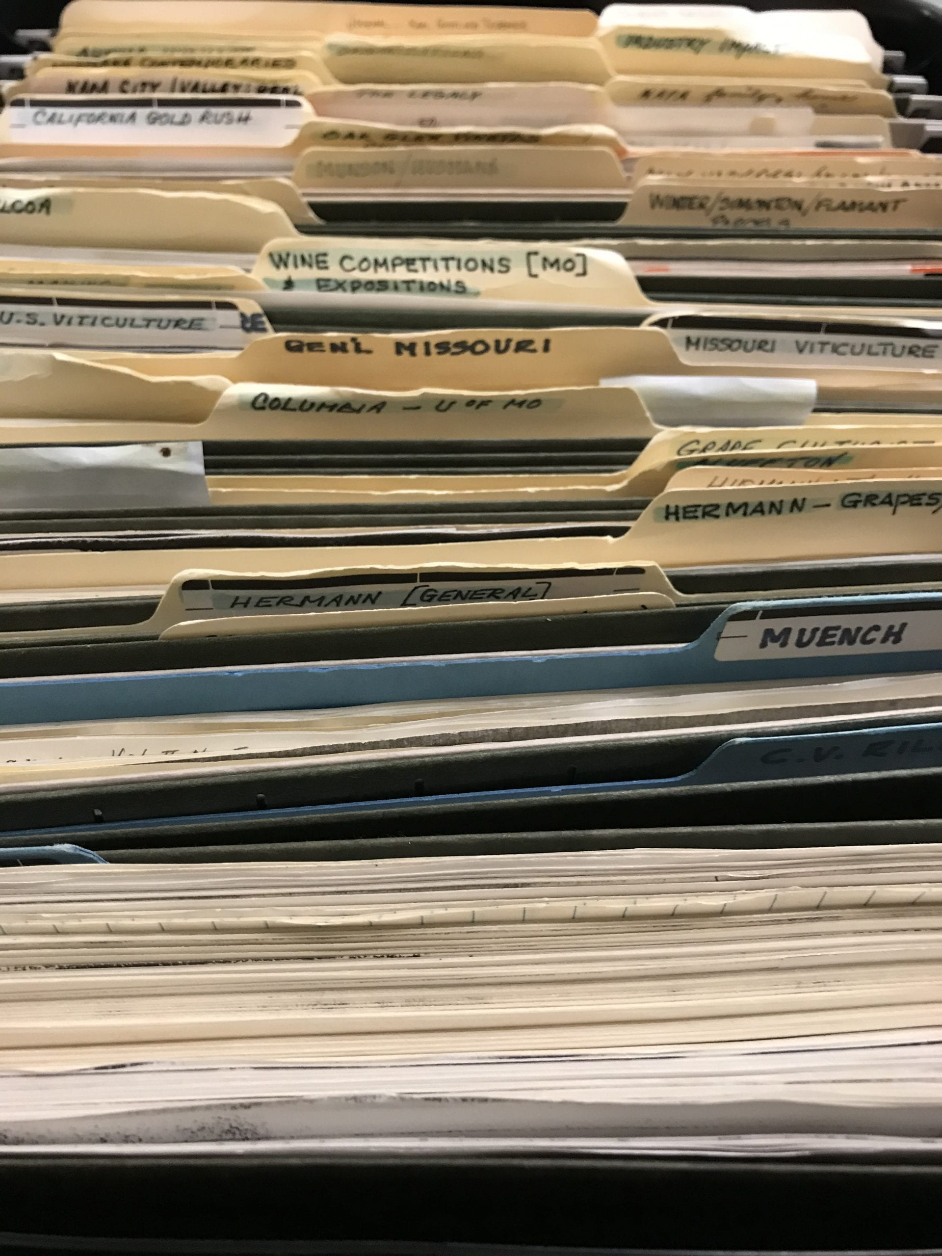 Box of files from Gail Unzelman papers