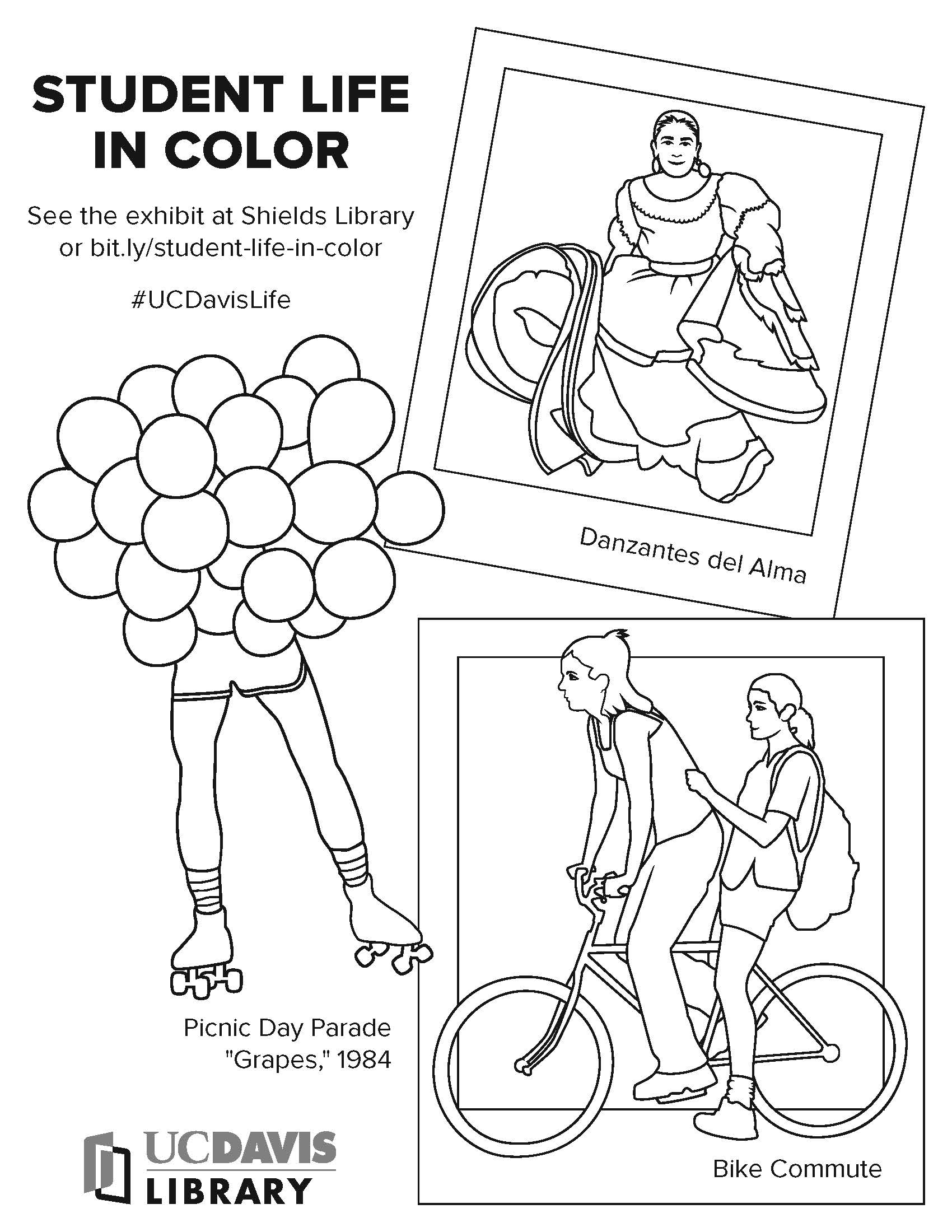 Student Life in Color coloring sheet