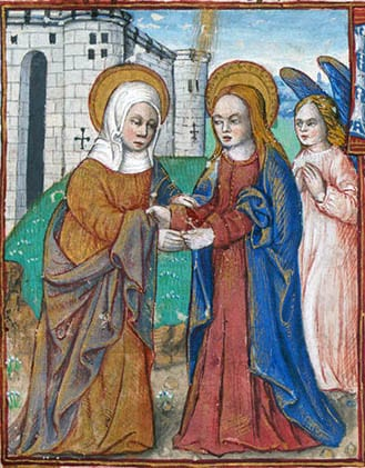 The Visitation from Book of Hours