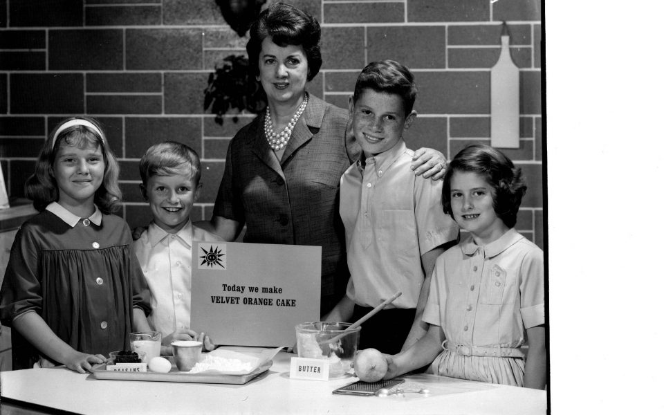 Ruth Ellen Church with a group of young cooks. Courtesy of Charles Church